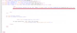Скрытая ссылка в шаблоне Joomla